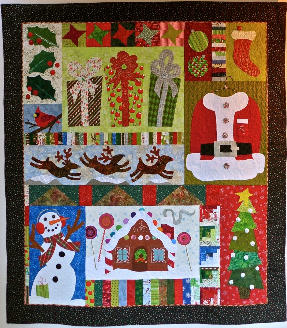 """""""Christmas on Emerald Court"""" quilt"""
