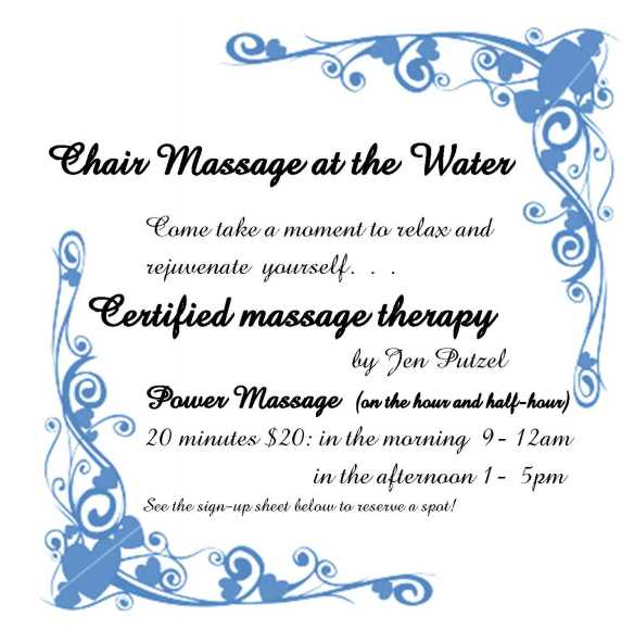 Chair Massage at the Water2