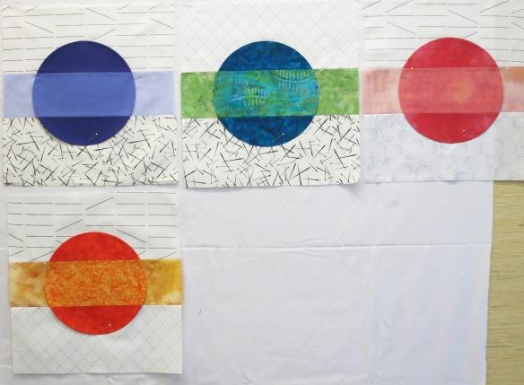 N Marjorie's circle blocks