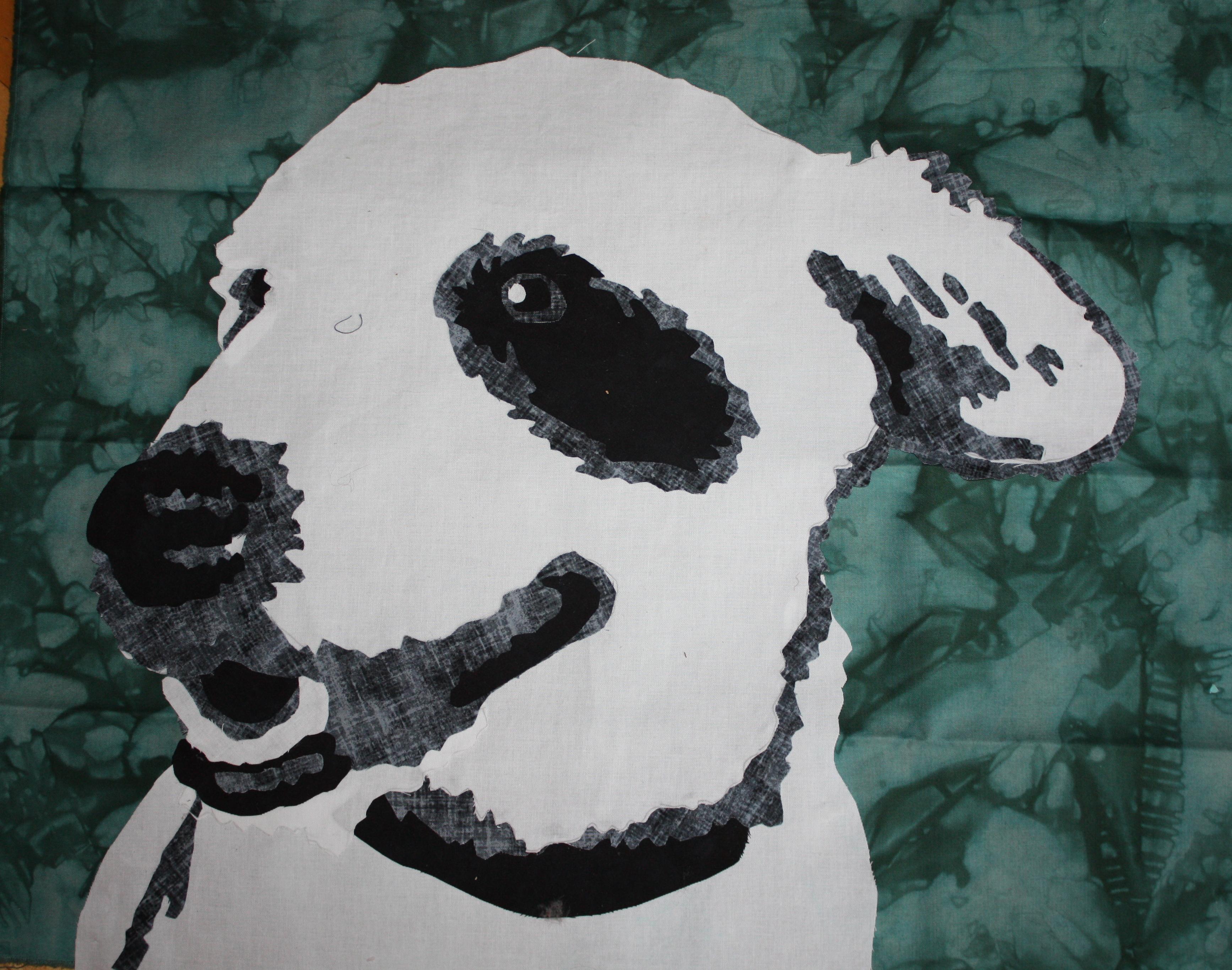 Bullseye in black and white