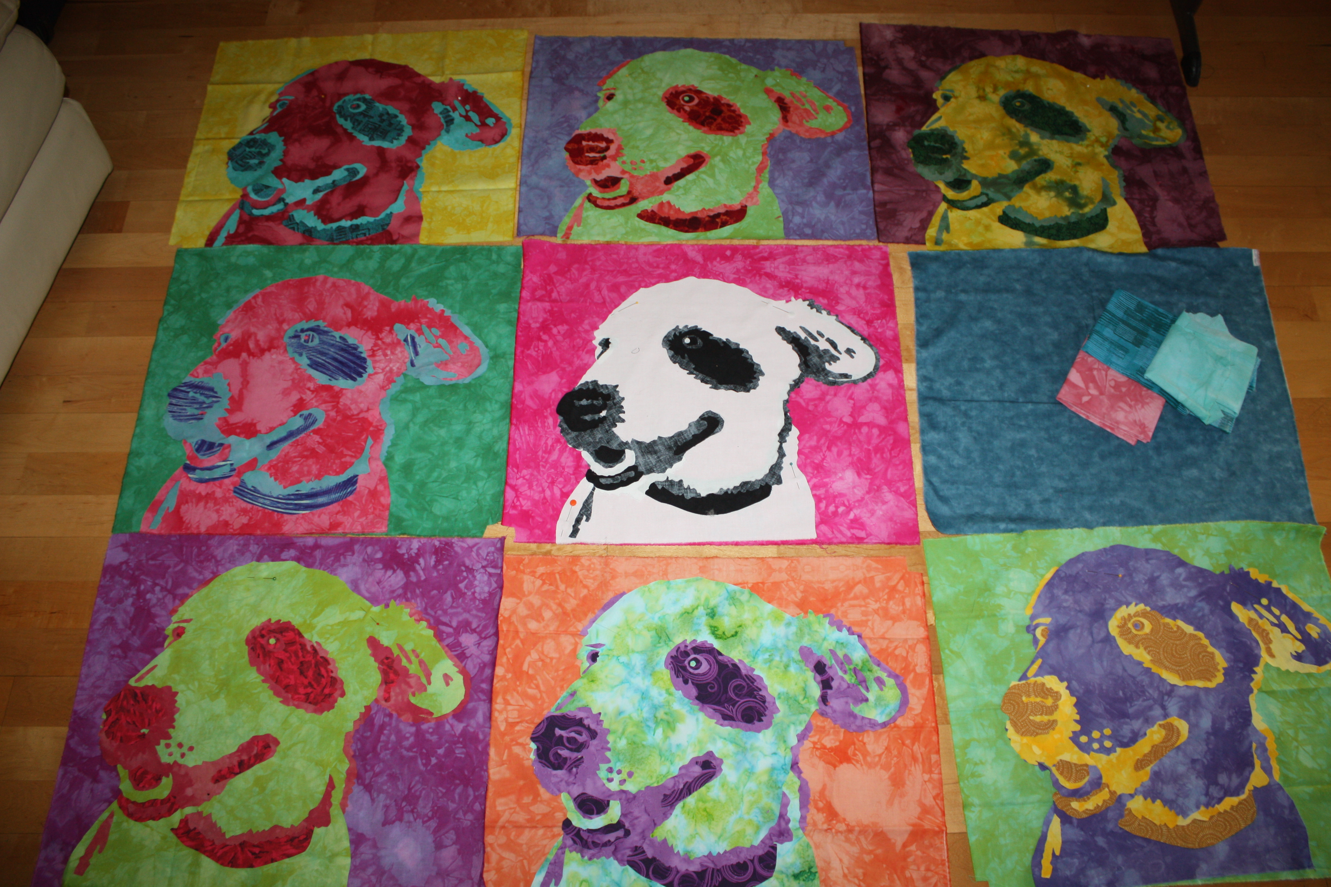 Nine patch Andy Warhol style Jane Haworth