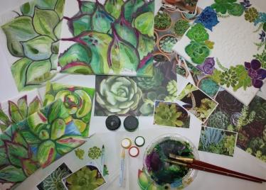 Succulent class Craft Napa 2019