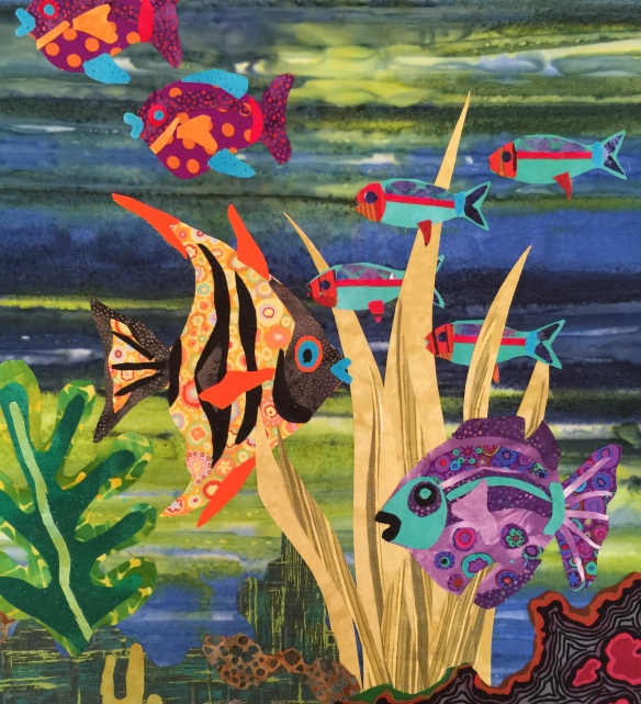 Fabulous Fish Fabric Collage Jane Haworth