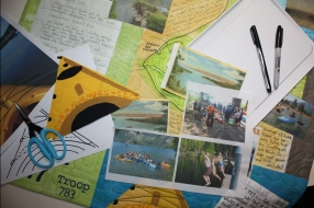 Gather your supplies; photos, paints, maps, postcards and join me for some journaling fun.
