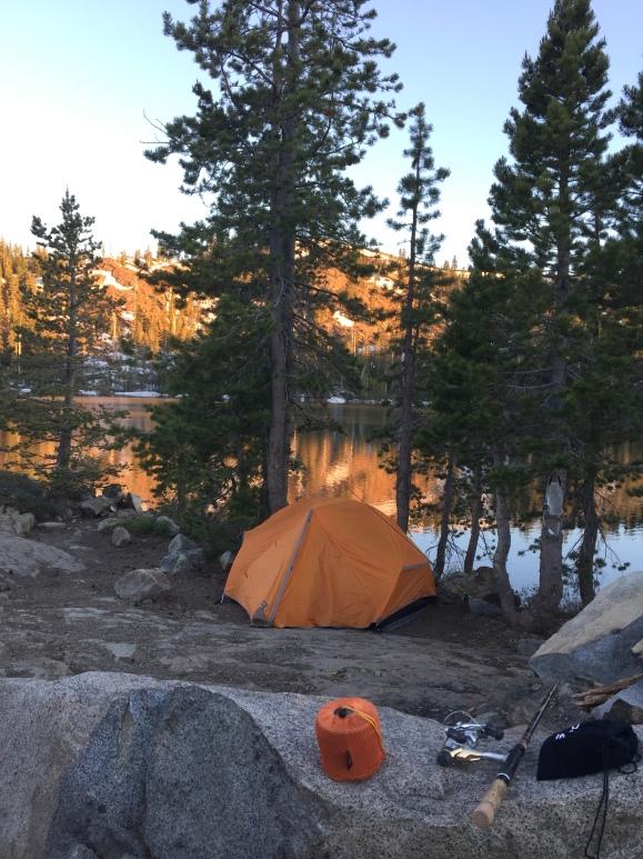 Camping by Island Lake