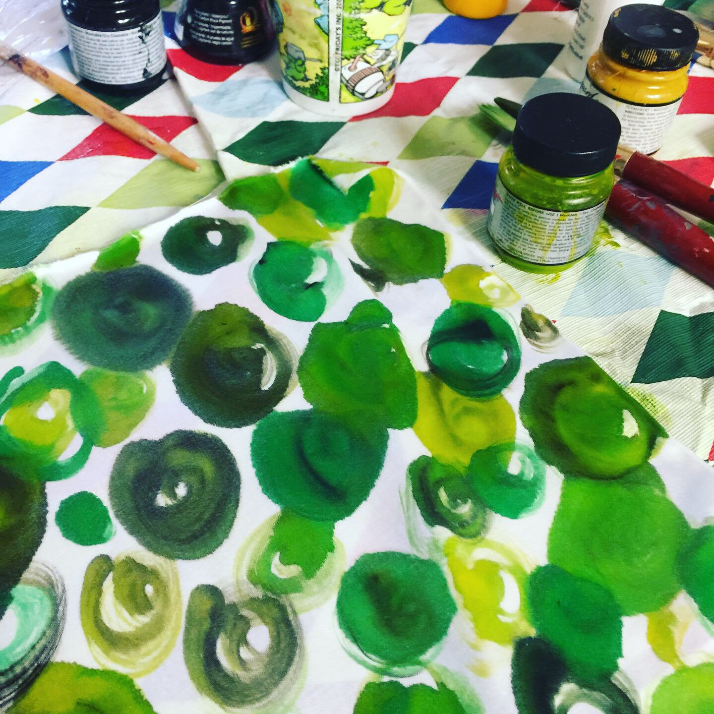 Using fabric paints