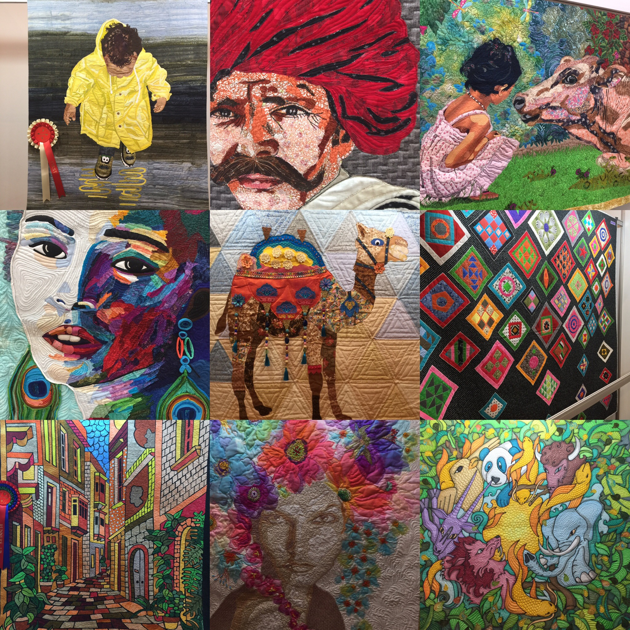 Selection of quilts from IQSD 2020