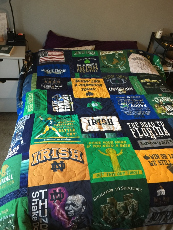 T shirt quilt by Jane Haworth